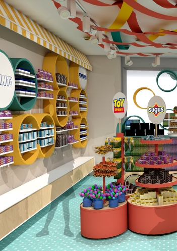 creaprojects, retail, diagnòstic, consulting, evolució, Sweet Market, Grup Areas, botiga de dolços, llaminadures, alegre, vitalitat, divertit, disseny, implantació, punt de venda, ll·luminació, mobiliari, comunicació, visual merchandising, experiència de compra, branding, naming, posicionament, identitat, marca